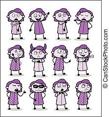 femininas, escritório, conceitos, vetorial, ilustrações, -,...