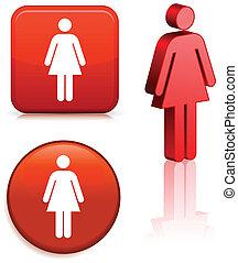 femininas, figura vara