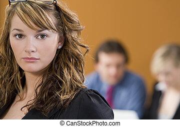 femininas, gerente escritório