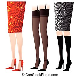 femininas, pernas, excitado