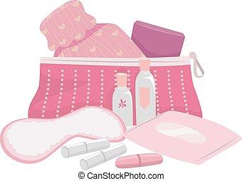 femininas, puberdade, equipamento