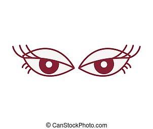 femininas, sensualidade, bonito, ícones, olhos