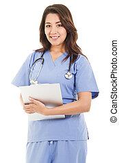 femininas, trabalhador healthcare