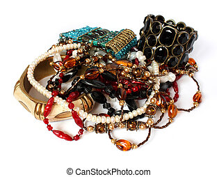 feminine accessories isolated