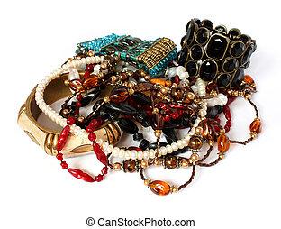 feminine accessories isolated