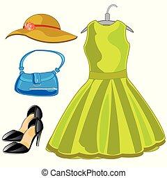 Feminine belongings and footwear