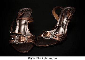 Feminine loafers from golden skin