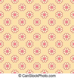 Feminine vector seamless pattern (tiling)