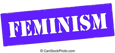Feminism - Stamp with word feminism inside, vector...