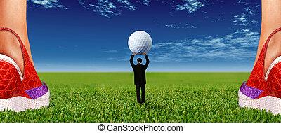 feminist, golf