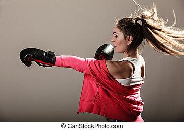 feminist, kvinna, utbildning, boxing.