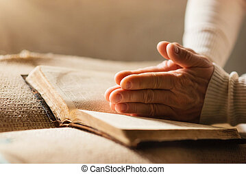 femme, à, bible