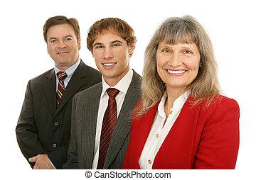 femme, équipe, mené, business