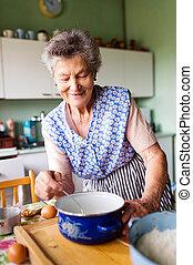 femme aînée, cuisson