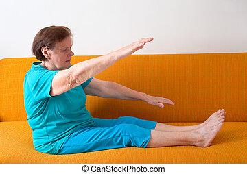 femme aînée, exercisme