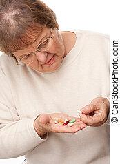 femme aînée, &, pilules