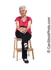 femme aînée, portrait