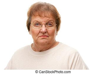 femme aînée, songeur, séduisant