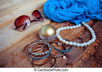 femme, accessoires