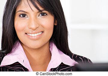 femme affaires, américain, latin