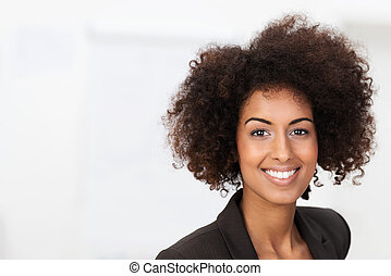 femme affaires, américain, vivacious, africaine
