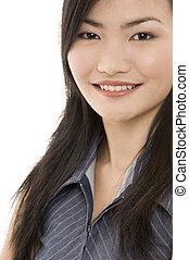 femme affaires, asiatique, 4