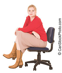 femme affaires, blond