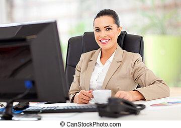 femme affaires, bureau