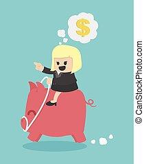 femme affaires, buts financiers