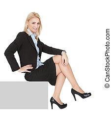 femme affaires, copyspace, séance