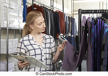 femme affaires, courant, mode, ligne, business