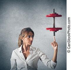 femme affaires, determinated