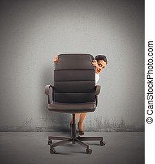 femme affaires, dissimulation