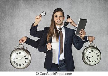 femme affaires, homme affaires, combinaison, business, hybride