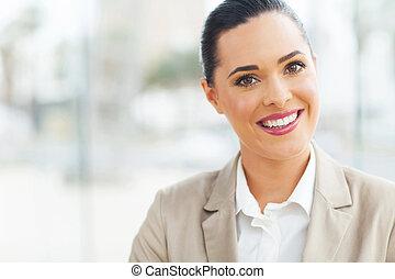 femme affaires, moderne, bureau