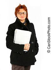 femme affaires, papiers