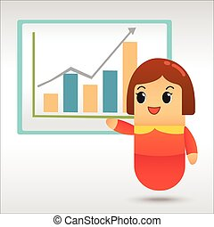 femme affaires,  plan,  Business, stratégie