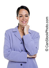 femme affaires, portrait