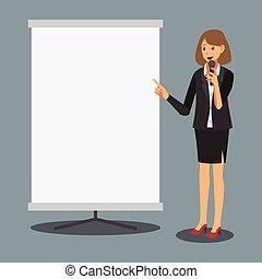femme affaires, présentation