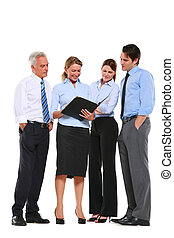 femme affaires, travail, plan, homme affaires