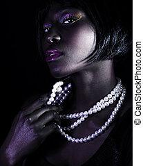 femme, africaine, magnifique