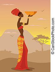 femme, africaine
