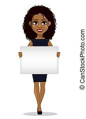 femme américaine, business, africaine