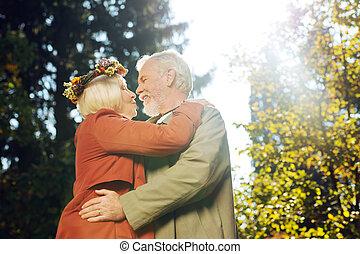 femme, amour, elle, positif, sentiment, exprimer, vieilli