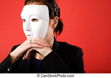 femme, anonyme, business