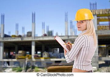 femme, architecte