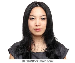 femme, asiatique