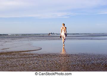 femme, australie, plage, 3