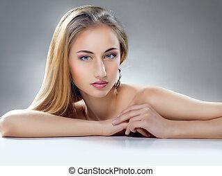 femme, beauté
