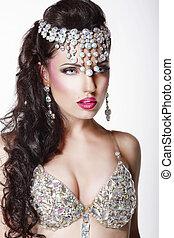 femme, bijouterie, couronne, luxury., aristocratique, lustré